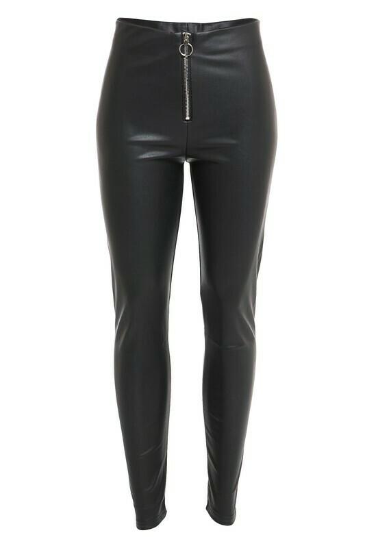 Pants | Pleather Straight leg Pants