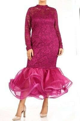 Dress |Lace-Midi-Dress