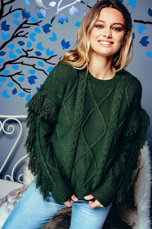 Sweaters | Chunky-Fringed-Sweater