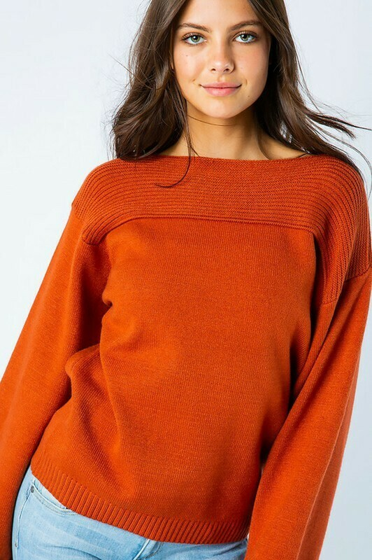Sweaters   Contrast Ribbed Sweaters