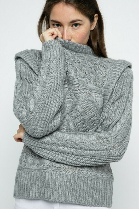Sweaters   Layered-Chunky-Cable-Sweater