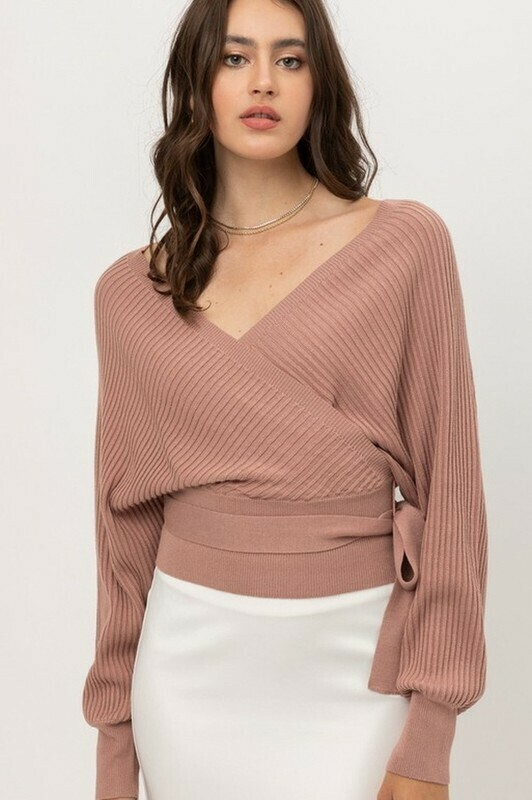 Sweaters   Tie-Front-Long-Wrap-Sweater
