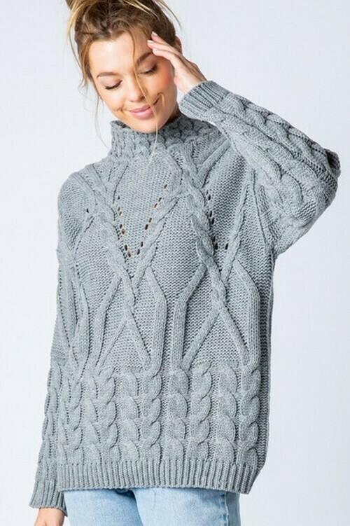 Sweaters   Mock-Neck-Long-Sleeve-Sweater