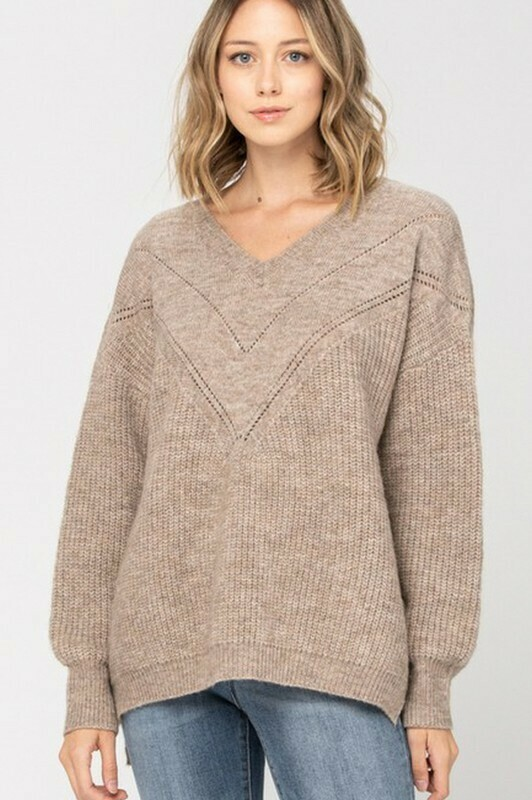 Sweaters   V-Neck-Oversized-Sweater