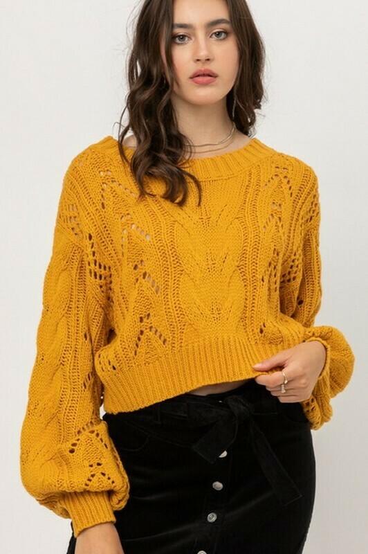 Sweaters   Acrylic-Yarn-Crop-Sweater