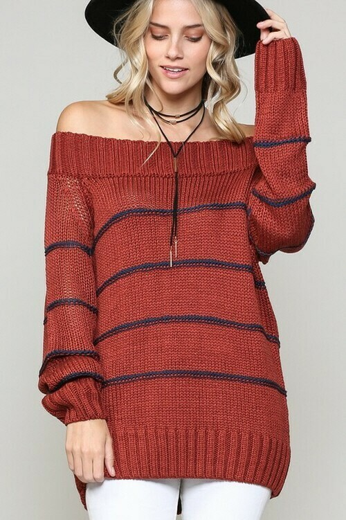 Sweaters | Bold-Striped-Pullover-Sweater
