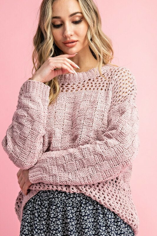 Sweaters | Ribbed-Chenille-Pullover-Sweater