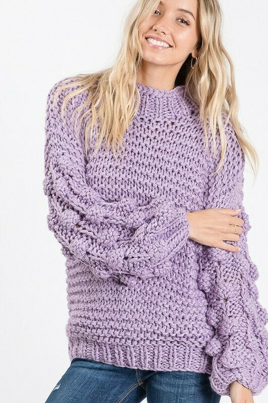 Sweaters   Bishop-Sleeve-Knit-Sweater