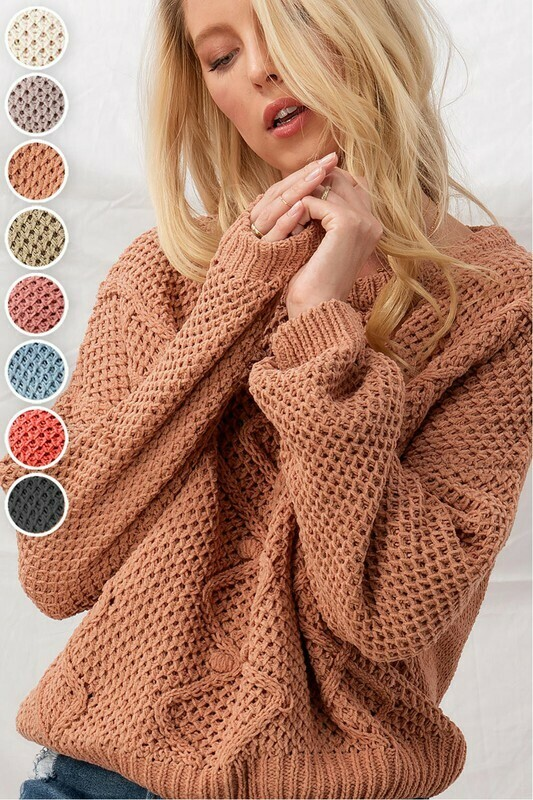 Sweaters   Solid-Chunky-Cropped-Sweater
