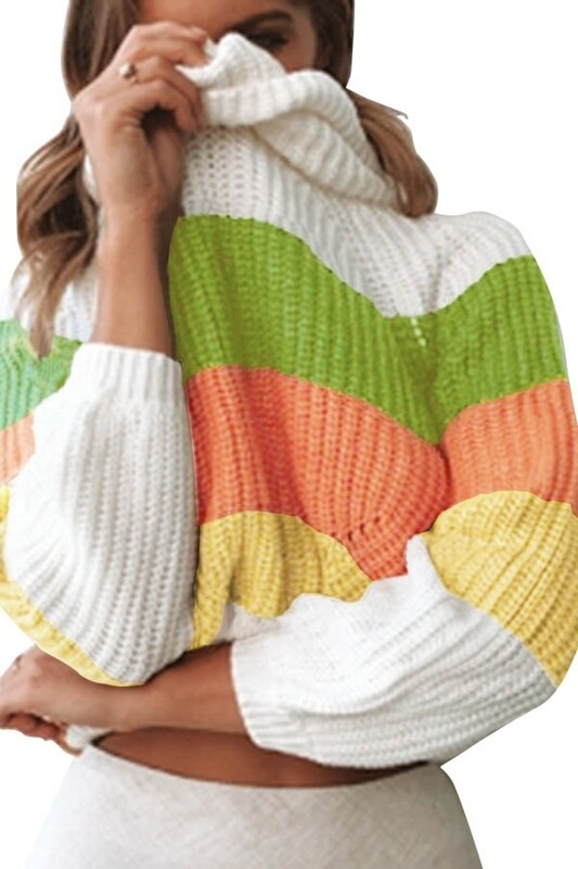 Sweaters   Long-Sleeve-Cowl-Neck-Sweater