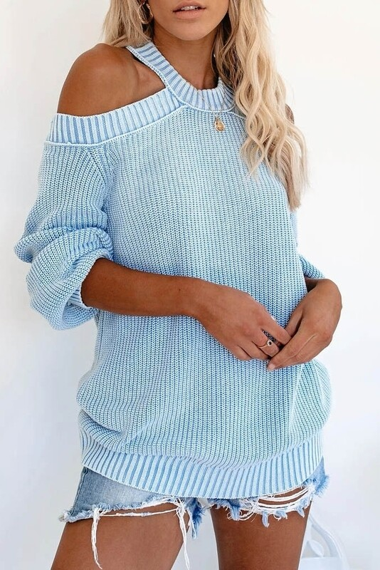 Sweaters  Cut-Out-Shoulder-Sweater
