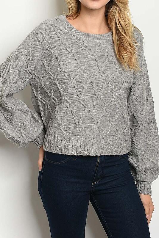 Sweaters  Crew-Neck-Bubble-Sweater