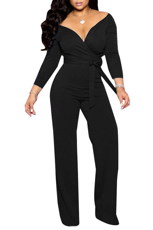 Jumpsuits | One-Piece-Slightly-off-the-shoulder-Jumpsuit