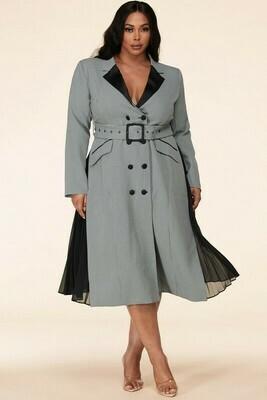 Dress |Houndstooth-Coat-Dress