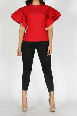 Blouses  Solid-Short-Fitted-Top