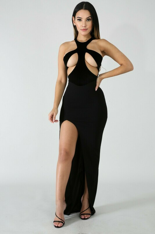 Dresses |Sexy-Mock-Neck-Gown