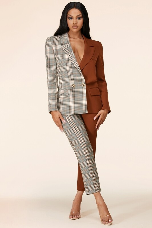 Pants sets | The Check Mix-Pant-suit