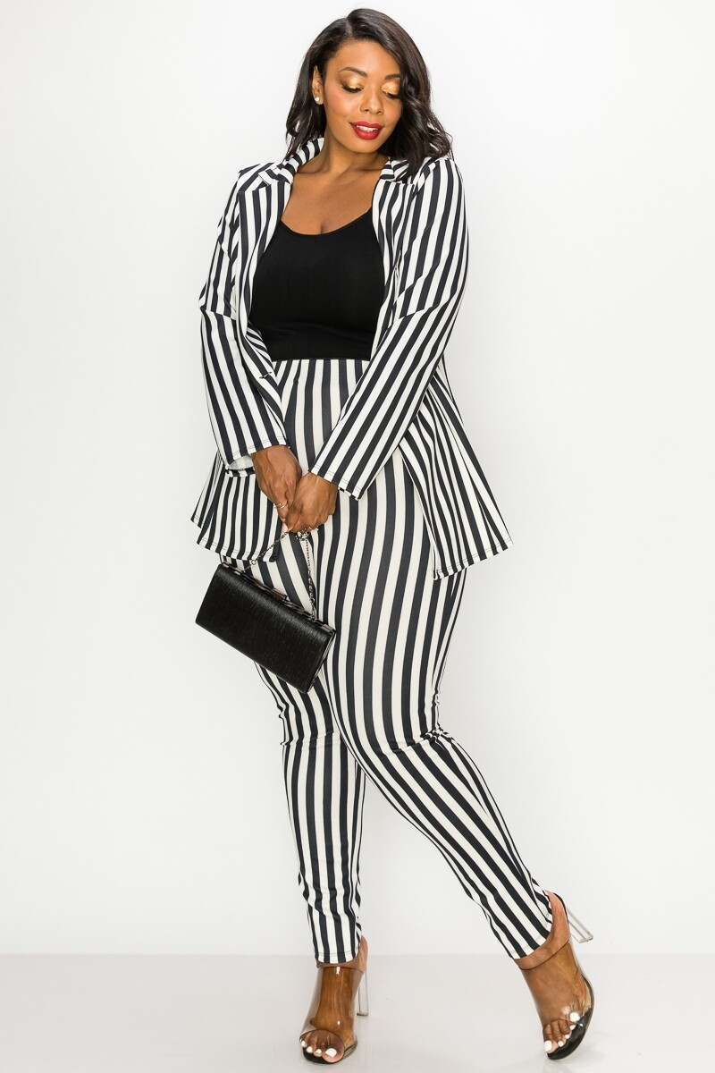 PANTS | Striped-Jacket-&-Pants-Sets