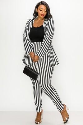 PANTS | Striped-Jacket-&-Pants-Sets
