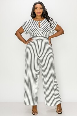 JumpSuits| Relaxed-Fit-Striped-Jumpsuit