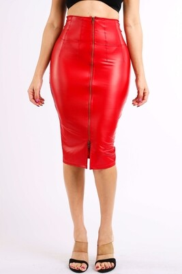 Skirts  Faux-Leather-Skirt