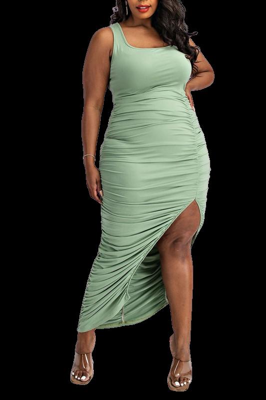 Dresses  Tank Top Ruching Dress