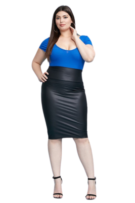 Skirts  Sexy Head-turning Faux Leather Skirt