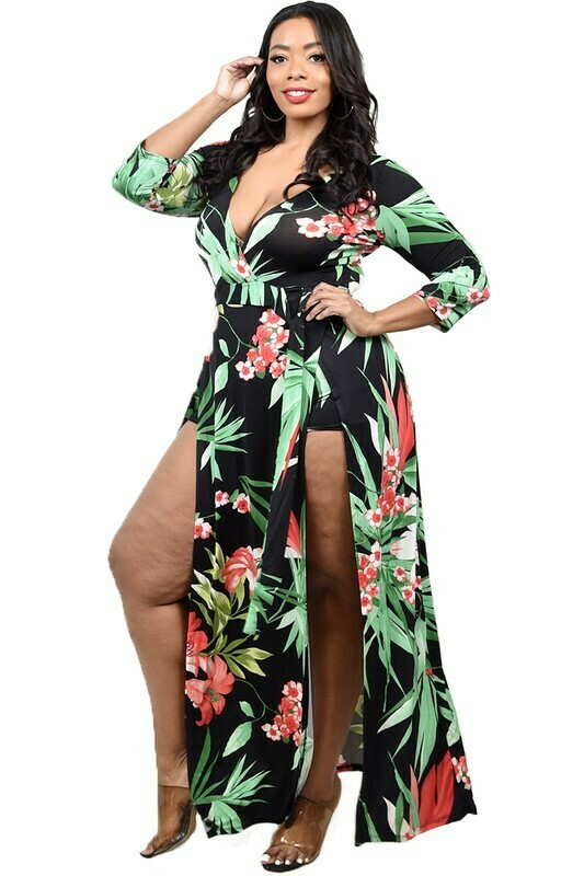 Plus Size Dresses   Floral Print Maxi Dress from Discount Diva