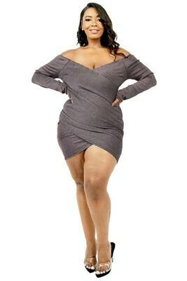 Plus Size Dresses | Wrap Mini Dress from Discount Diva