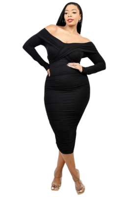 Plus Size Dresses | Cross Shoulder Band Dress from Discount Diva
