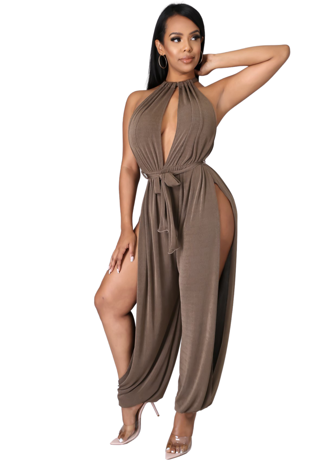 Pants  High Splits Jumpsuit from Discount Diva