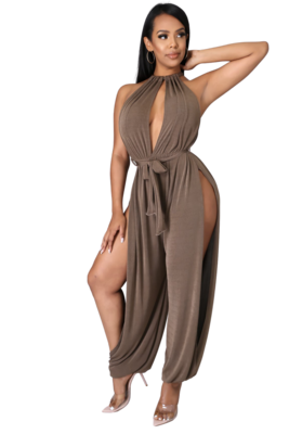 Pants| High Splits Jumpsuit from Discount Diva