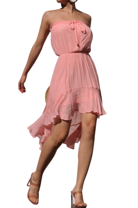 Dresses| Hi-Low Woven Dress from Discount Diva