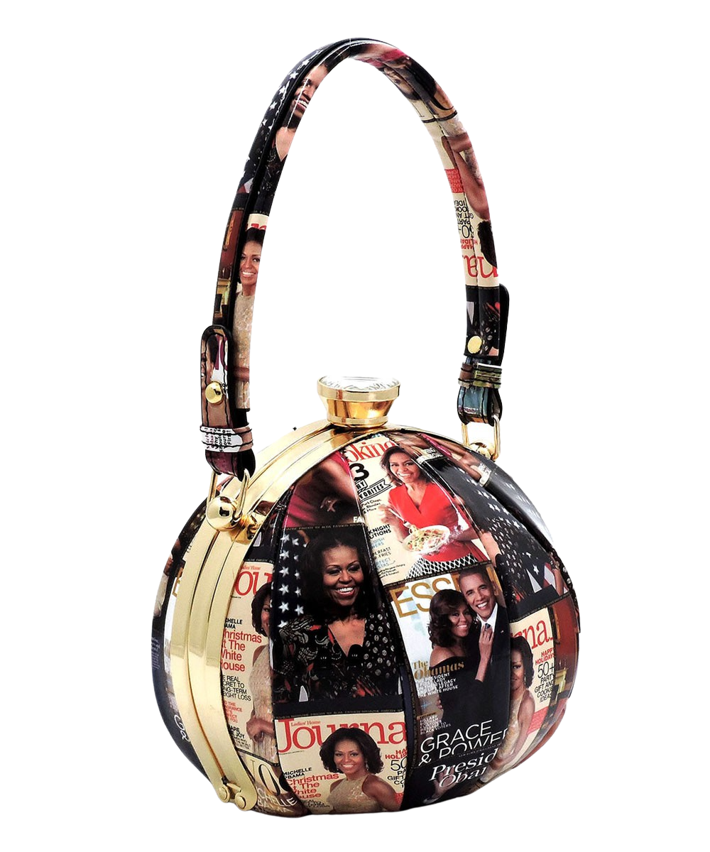 Handbag| Michelle Obama Magazine Cover Collage Frame Satchel
