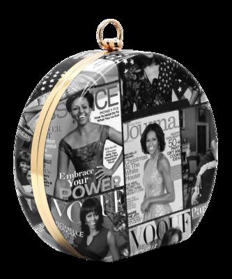 Obama| Michelle Obama Magazine Cover Collage Round Clutch