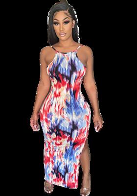 Dresses| Summer Multicolor Print Dress