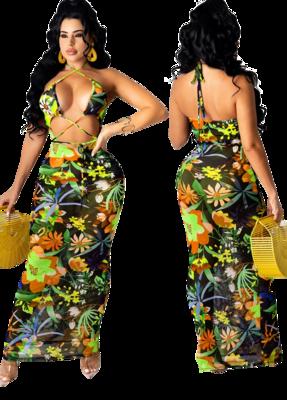 Dresses| Sexy Halter Maxi Dress