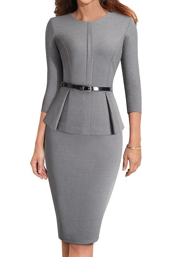 Dresses| Executive Peplum Dress