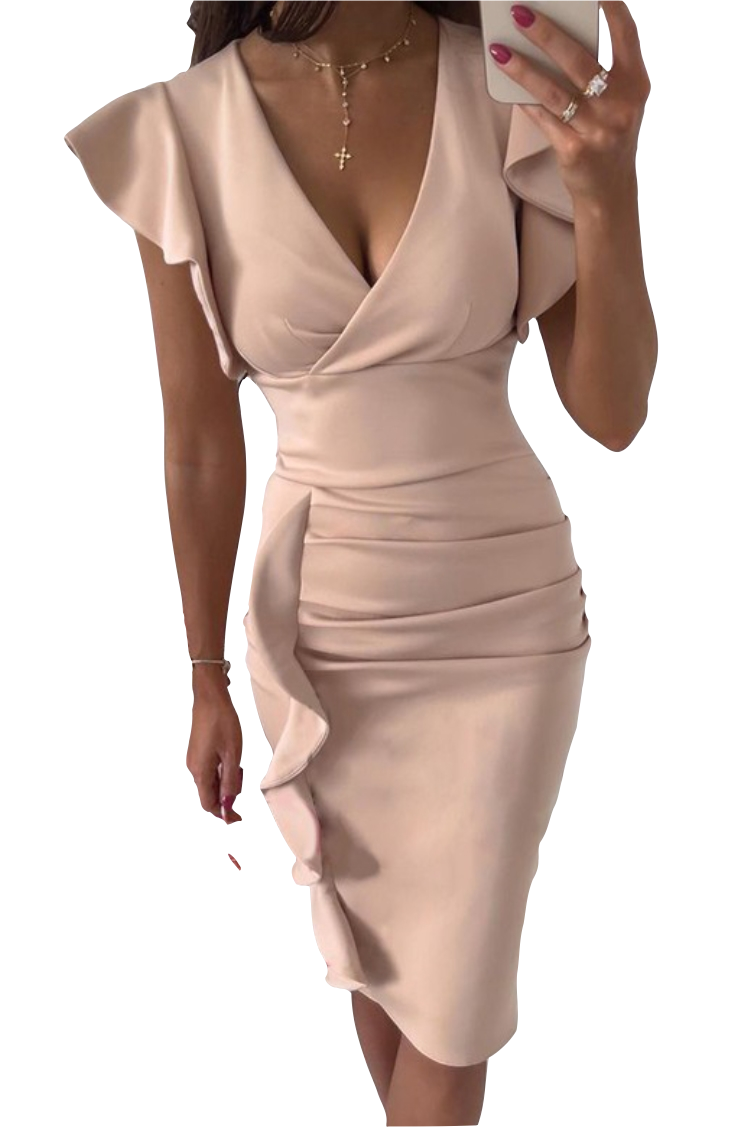 Dresses  Side Flounce Office Dress