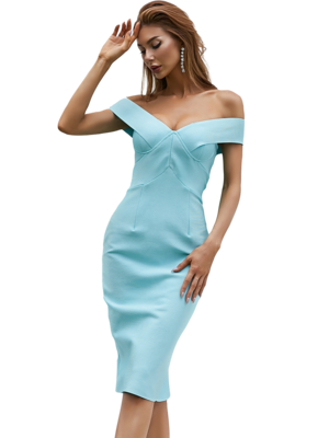 Style Drops| Sexy Off Shoulder Bodycon Bandage Dress White Runway