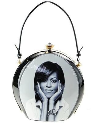 Obama| Magazine Printed Unique Oval Shape Fashion Bag