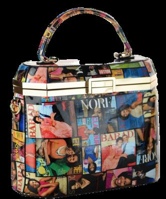 Obama | Magazine Printed Unique Rectangle Shape Fashion Bag