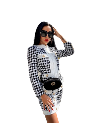 Style Drops| 2pc Houndstooth Suit