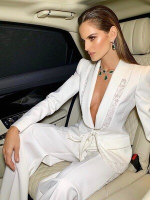 Style Drops| Fashion White 2pc Tailored Suit
