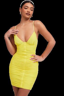 Style Drops| Sexy High Street Deep V-Neckline Draped Bandage Dress