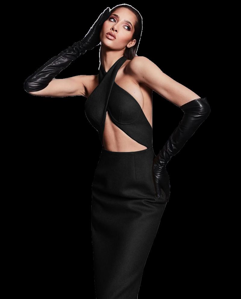 Style Drops| Halter Cut Bandage Dress