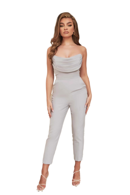 Style Drops| Backless, Off-The-Shoulder Bodycon Jumpsuit