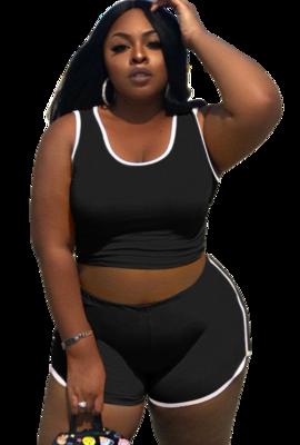 Activewear| Plus Size Cool 2pc Tank Top Short Set