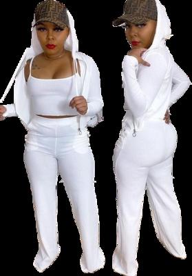 Activewear| Casual 3pc Long sleeve Hoody Sweatsuit