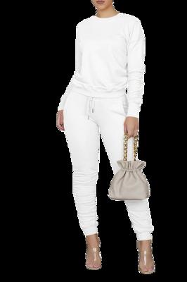 Sales| 2pc Ruching Sweat-suit